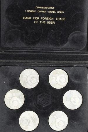 Rosja, zestaw rubli w pudełku banknowym