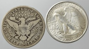 USA, set of 1/2 dollar