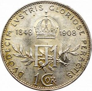 Austro-Węgry, Franciszek, 1 korona 1908, Wiedeń