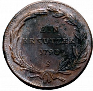 Austria, Józef II, 1 krajcar 1790 S