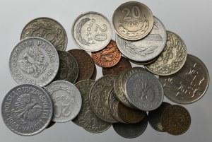 II RP i PRL, Zestaw monet obiegowych