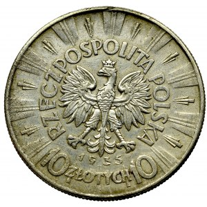 II Rzeczpospolita, 10 złotych 1935, Piłsudski