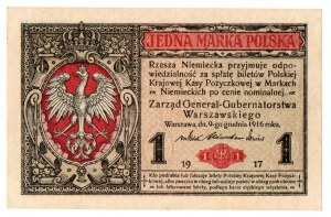 Generalne Gubernatorstwo, 1 marka polska 1916 B Generał