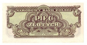 PRL, 5 złotych 1944 , seria I -
