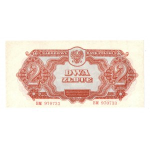 PRL, 2 złote 1944 , seria BM- ...obowiązkowym...
