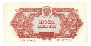 PRL, 2 złote 1944 , seria I -