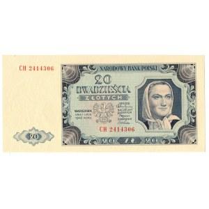 PRL, 20 złotych 1948 CH