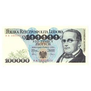 100.000 złotych 1990 AA