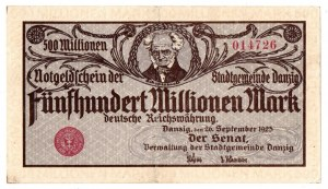 WMG , 500 mln Marek 26.09.1923