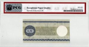 Pewex, Bon Towarowy, 20 centów 1979 - PCG UNC Det.