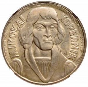 People Republic of Poland, 10 zloty 1965 Copernicus - NGC MS65