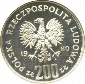 PRL, PRÓBA nikiel 200 złotych 1980 Bolesław l Chrobry