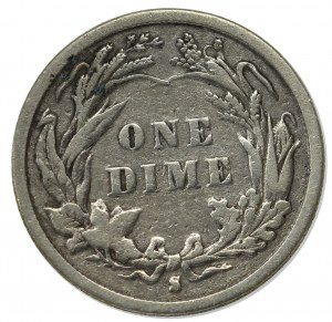 USA, One dime 1893 S