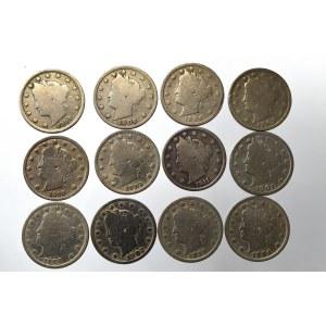 USA, zestaw monet 5 centów