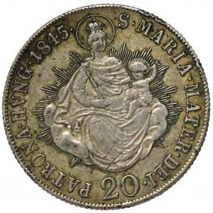 Węgry, 20 krajcarów 1845