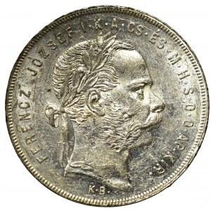 Hungary, 1 forint 1877, Kremnitz