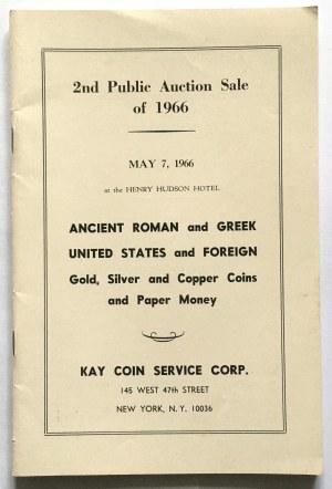 Katalog aukcyjny, ANCIENT ROMAN and GREEK UNITED STATES and FOREIGN 1966 r - rzadkie i ciekawe monety