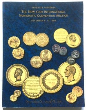 Katalog aukcyjny, The New York International Numismatic Convention Auction 1997 r. - ciekawe I bardzo rzadkie, monety polskie