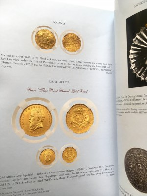 Katalog aukcyjny, THE NEW YORK SALE XXXVII/2016 r - bardzo rzadkie i ciekawe, monety polskie