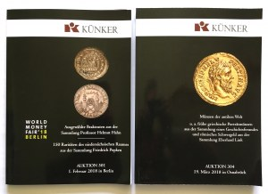 Katalogi aukcyjne, Künker 301/2018 r i Künker 304/2018 r