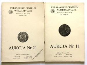 Katalogi aukcyjne, WCN Aukcja nr 21 oraz WCN Aukcja 11
