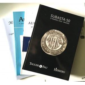 Katalogi aukcyjne, 4 szt.
