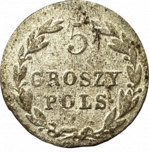 Królestwo Polskie, Aleksander I, 5 groszy 1819 IB