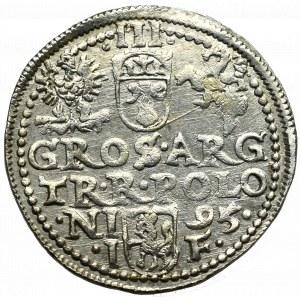 Zygmunt III Waza, Trojak 1595, Olkusz