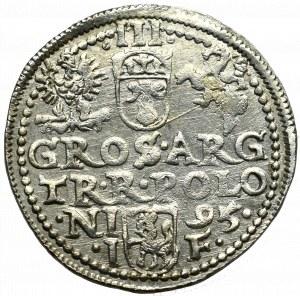 Sigismund III, 3 groschen 1595, Olcusia