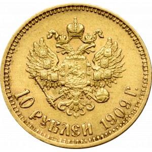 Rosja, Mikołaj II, 10 rubli 1909 ЭБ