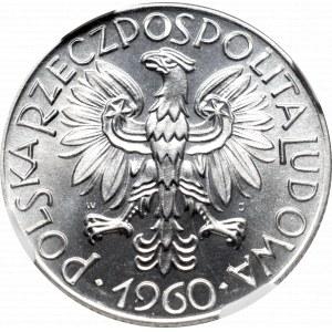 PRL, 5 złotych 1960 Rybak - NGC MS66