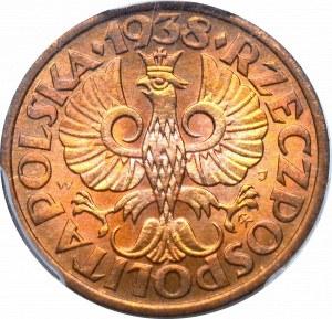 II Republic of Poland, 1 groschen 1938 - PCGS MS66 RD