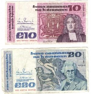 Irlandia, zestaw 85 Funtów w 12 banknotach