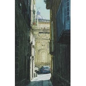 Andrzej Sadowski, Kalabria - Tropea - Uliczka z widokiem na Duomo, 2001