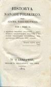 NARUSZEWICZ Adam - Historya narodu polskiego. Tom I. Część I-II [1824]
