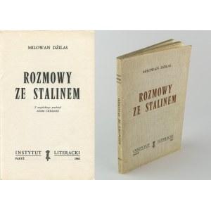 DŻILAS Milowan - Rozmowy ze Stalinem [Paryż 1962]