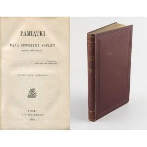 RZEWUSKI Henryk - Pamiątki pana Seweryna Soplicy cześnika parnawskiego [Lipsk 1868]
