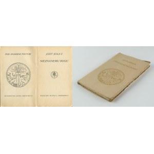 JEDLICZ Józef - Nieznanemu bogu [wydanie pierwsze 1912]