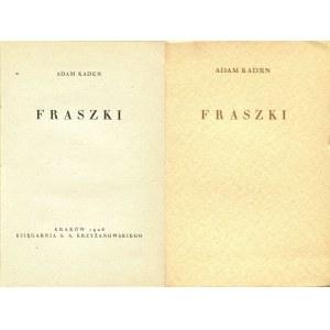 KADEN Adam - Fraszki [1928]