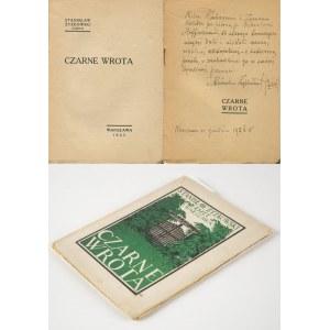 ŻYŻKOWSKI Stanisław (Esżet) - Czarne wrota [1927] [AUTOGRAF I DEDYKACJA AUTORA]