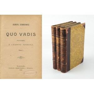SIENKIEWICZ Henryk - Quo vadis. Powieść z czasów Nerona [wydanie pierwsze 1896]