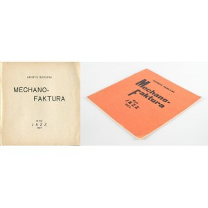 BERLEWI Henryk - Mechano-faktura. Przedmowa Aleksander Wat [reprint, egz. numerowane]