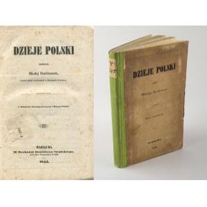 PAWLISZCZEW Mikołaj - Dzieje Polski z obrazem chronograficznym i mapą [1844]