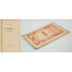 MUSSOLINI Benito - Mowy [1924]