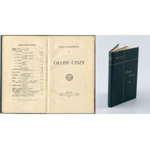 KONOPNICKA Maria - Głosy ciszy [wydanie pierwsze 1906]
