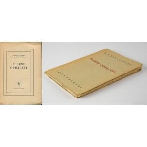 GAŁCZYŃSKI Konstanty Ildefons - Ślubne obrączki [wydanie pierwsze 1949]