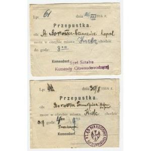 [Legiony Polskie] Przepustka. Kapral Borowicz-Pomarański [1914]