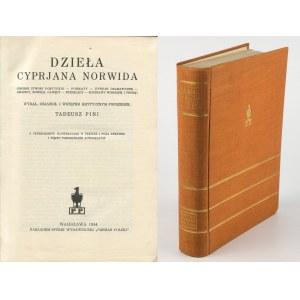 NORWID Cyprian Kamil - Dzieła [1934] [oprawa wydawnicza]