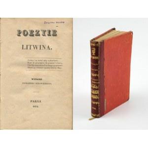 (GORECKI Antoni) - Poezyie Litwina [Paryż 1834]