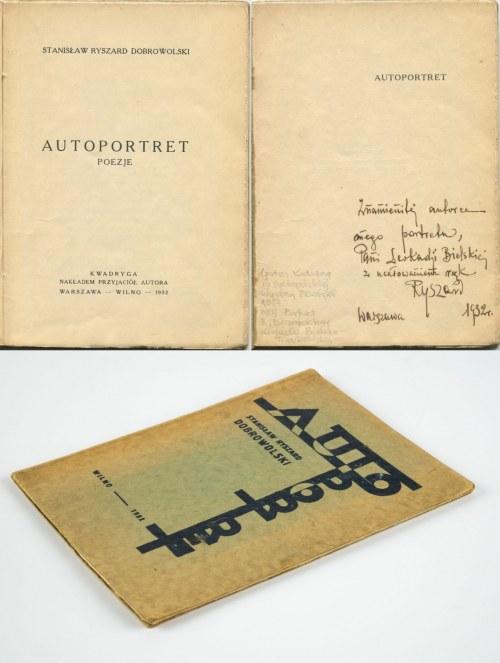 DOBROWOLSKI Ryszard Stanisław - Autoportret [wydanie pierwsze 1932] [DEDYKACJA I AUTOGRAF AUTORA]